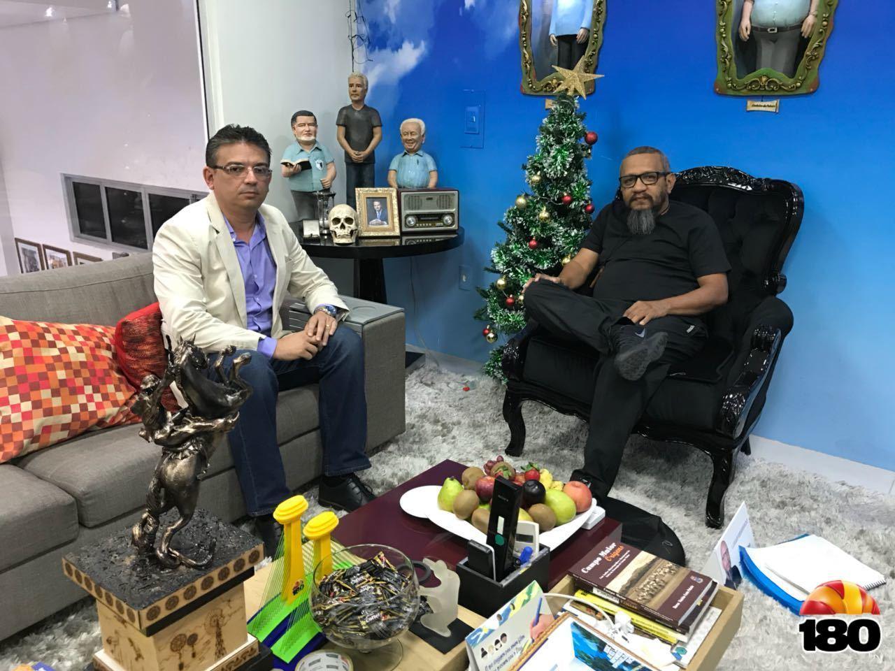 Secretário de Transportes Gulhermano Pires e Dr Helder Eugênio, diretor-geral do 180