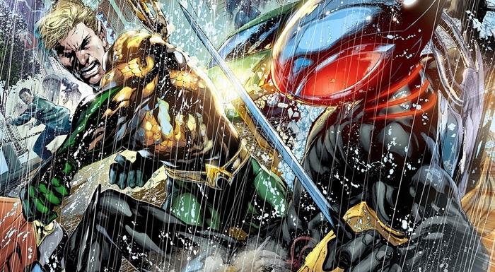 Uma versão mais moderna do eterno embate em Aquaman e o ArraiaNegra.