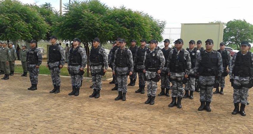 Novos recrutas que participaram de curso