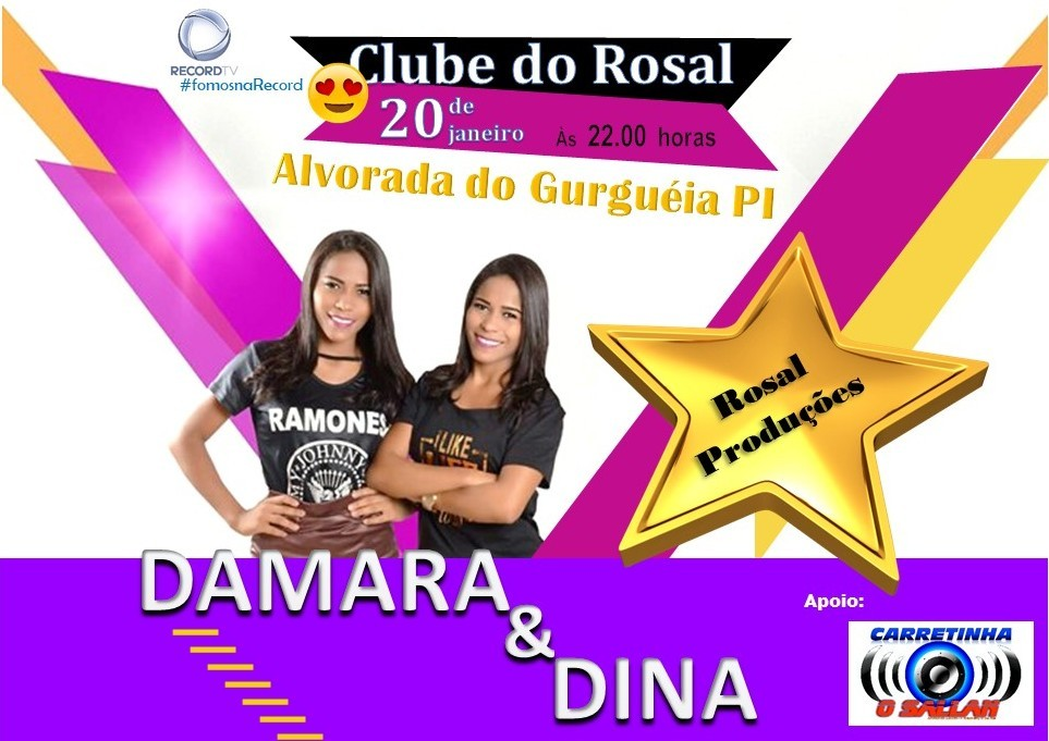 Cartaz de Publicidade Dupla Damara e Dina