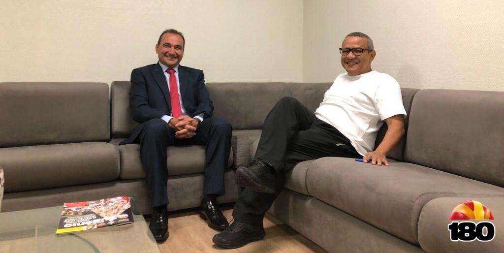Desembargador Erivan Lopes, presidente do Tribunal de Justiça do Piauí, e o diretor geral do Grupo Eugênio, Dr Helder Eugênio
