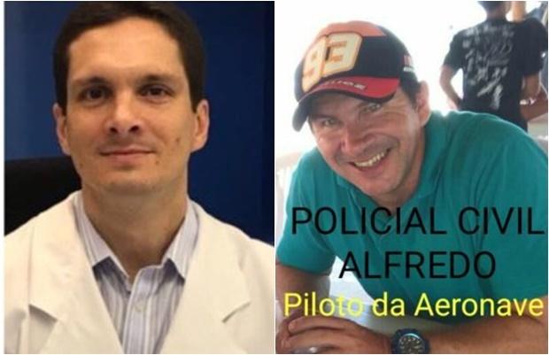 Médico Rodrigo Capobiango Braga e o policial Alfredo Oliveira Barbosa Neto