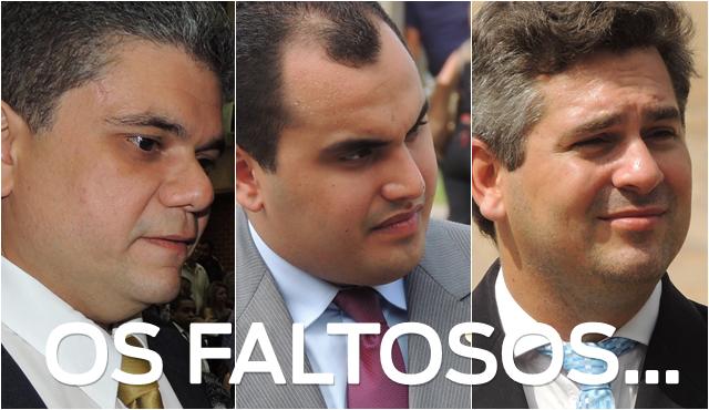 Na ordem, os deputados Fábio Xavier, Georgiano Neto e Pablo Santos