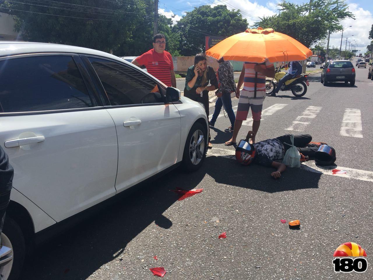 Acidente na Avenida Higino Cunha