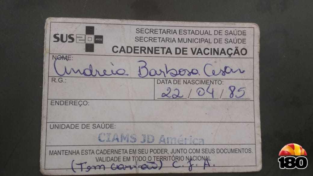 Cartão da vacina.