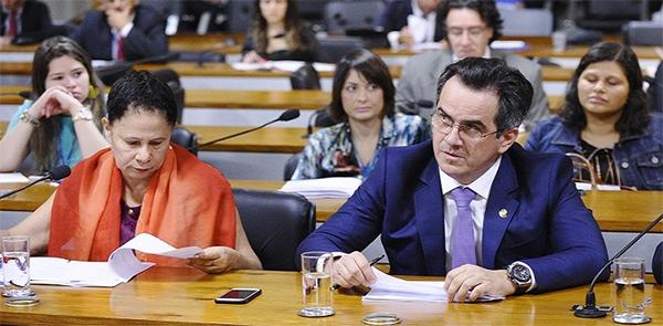 Regina Sousa e Ciro Nogueira, ambos pré-candidatos à reeleição no Senado