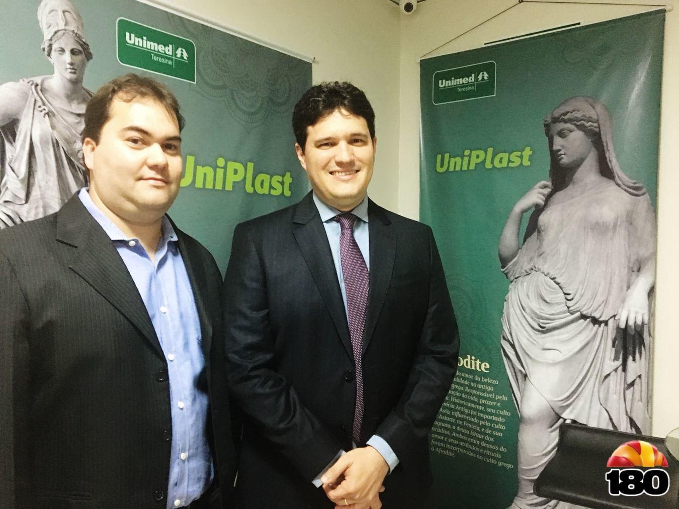 Diretor Geral Hospital Unimed Primavera Paulo Matheus e Diretor Técnico Rafael Correa Lima