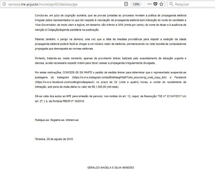 Nova decisão manda W Dias remover posts no Facebook e Instagram