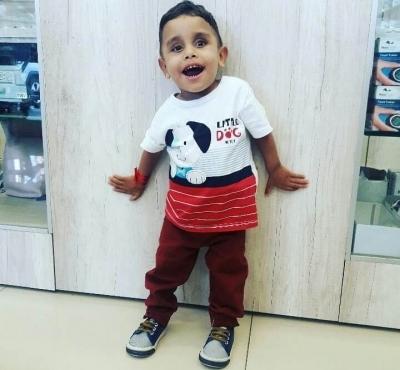 Marcos Filho, 2 anos de idade
