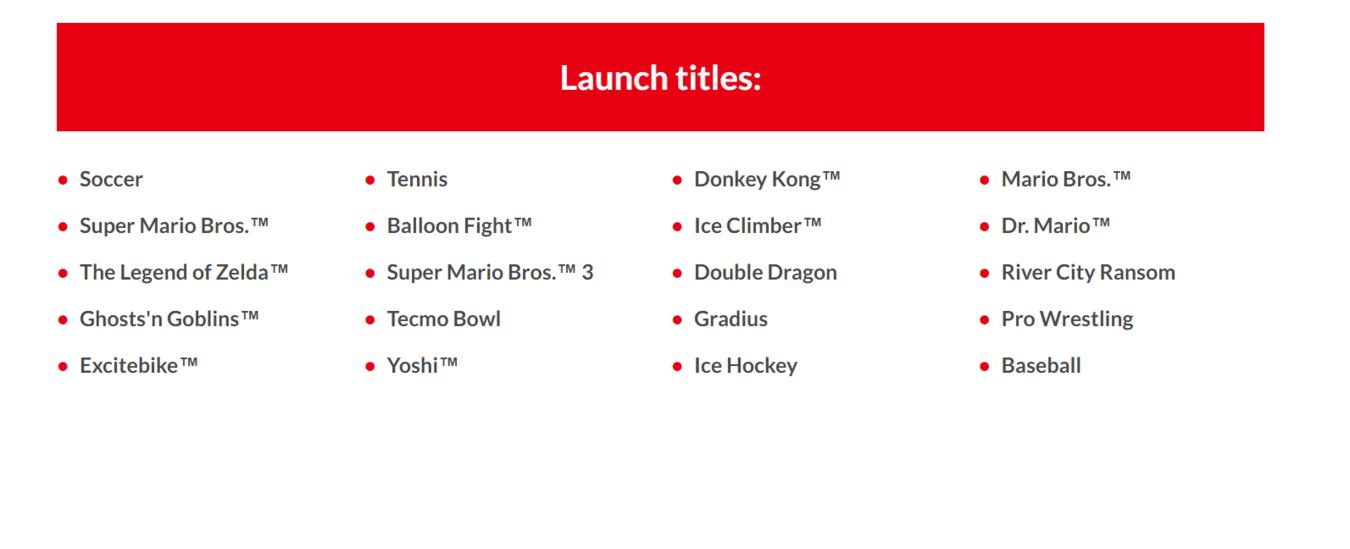 Revelados 20 Cl U00e1ssicos NES Para O Lan U00e7amento Do Nintendo
