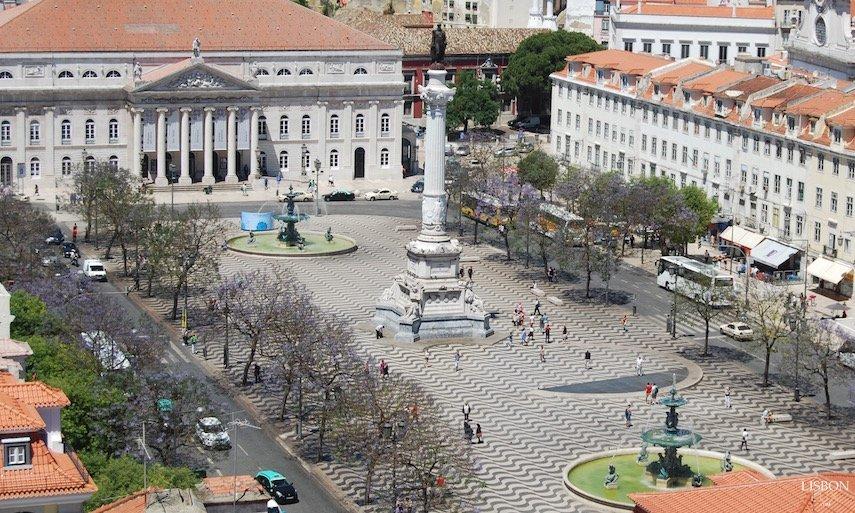 Praça do Rossio em Lisboa onde foi queimado pela Inquisição, o Padre Malagrida
