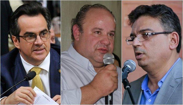 O senador Ciro Nogueira e os gestores do DETRAN e Setrans, Arão Lobão e Guilhermano Pires
