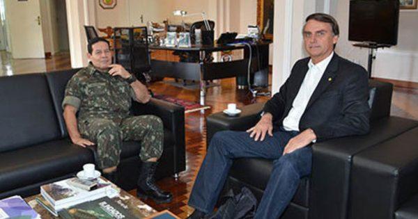 General Mourão e Jair Bolsonaro