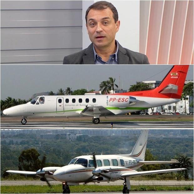 Para governo eleito de SC, um governador e sua equipe usar voos comerciais é incentivar a economia aérea; acima os aviões que serão vendidos (Foto: Divulgação)