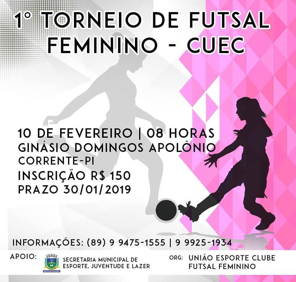 União Esporte Clube de Futsal Feminino realizará º Torneio de Futsal em  Corrente b176d552ab822