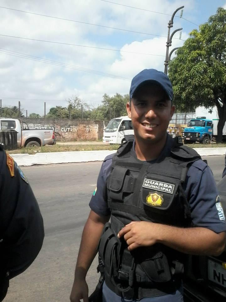 O Guarda Municipal Djalma em uma operação da corporação