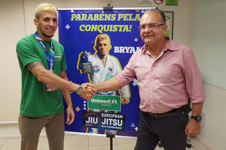 Bryam Lima e o presidente da Unimed Teresina Emmanuel Pontes