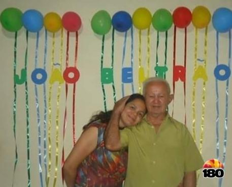 Foto: Senhor João Beltrão e a filha Francisca Noleto