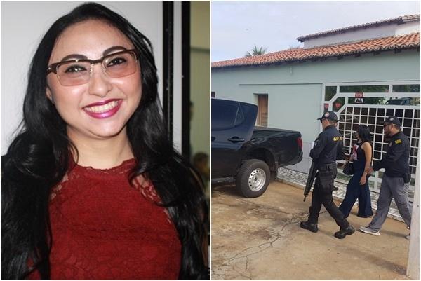 A ex-prefeita Márcia Cruz, presa em operação do Gaeco