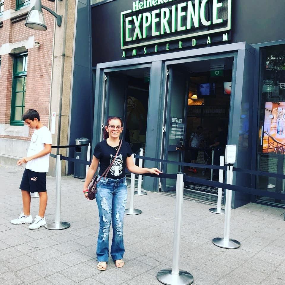 Consuelo em Amsterdã, na Holanda