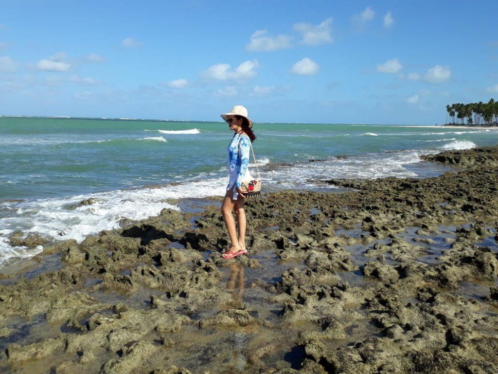 Consuelo na Praia de Carneiros, em Tamandaré, Pernambuco.