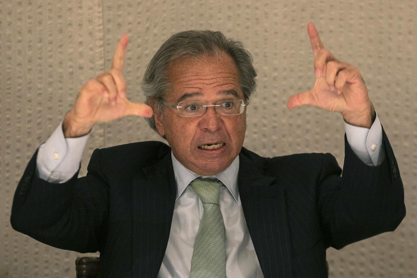 O ministro da Economia, Paulo Guedes, em jantar promovido pelo Poder360