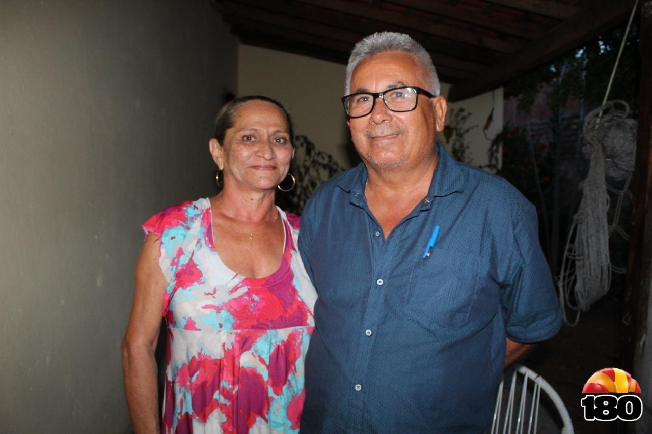 Vereador e sua esposa, dona Lúcia