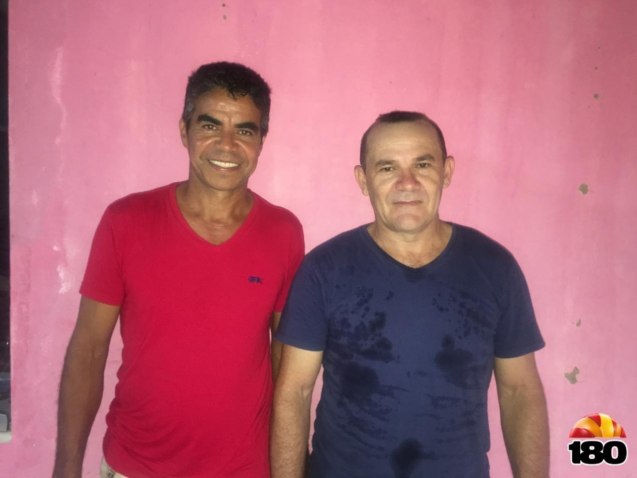 Vereador Eldimar (PTB) e presidente Genésio (PTB)