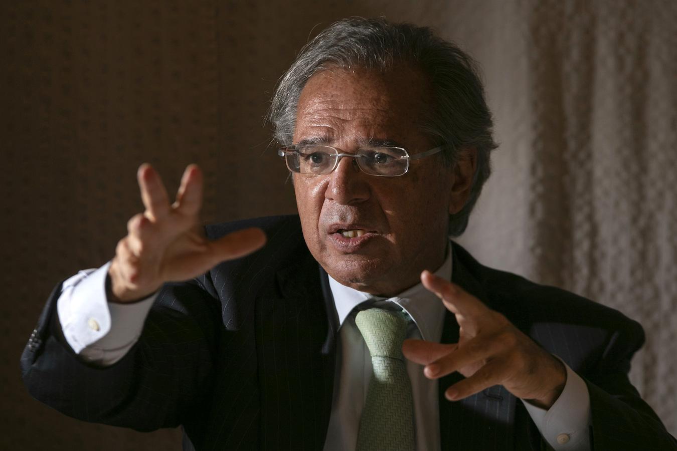 O ministro da Economia, Paulo Guedes, na 13ª edição do Poder360-ideias