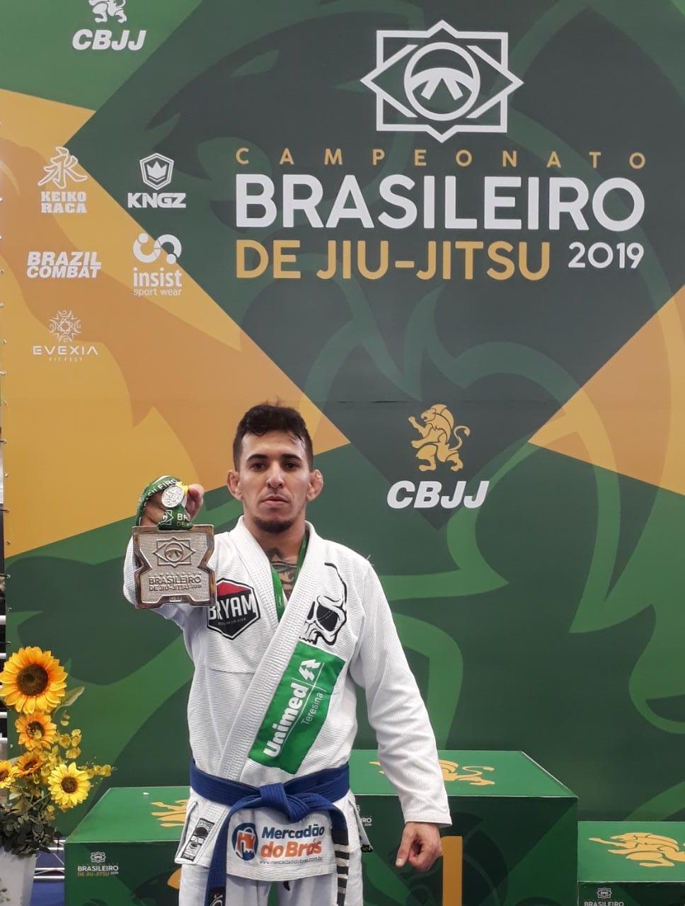 Bryam Lima levou a prata no Campeonato Brasileiro de Jiu-Jitsu no início de maio, em São Paulo