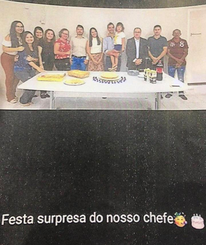 Foto que consta de denúncia de Luís Neto para provar proximidade entre promotor e ex-procurador do município de Luís Correia