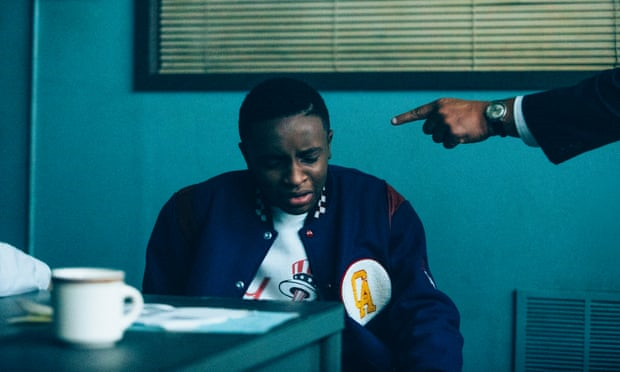 Falsa confissão… Caleel Harris em When They See Us. Foto: Atsushi Nishijima / Netflix
