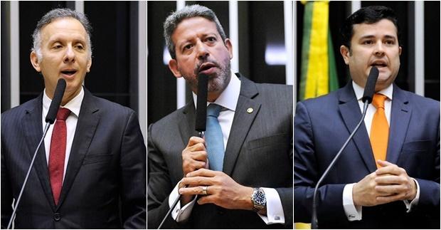 Aguinaldo Ribeiro (PP-PB), Arthur de Lira (PP-AL) e Eduardo da Fonte (PP-PE)