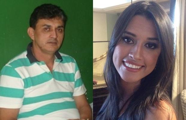 Ex-prefeito Ronaldo Lages e sua filha, que abriu mão de ser vice-prefeita
