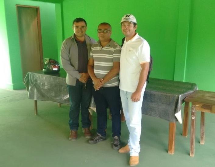 Edineudo Mourão (Engenheiro Agrônomo da SEMAPA), Gilberto Luís (Diretor do Departamento Agrícola) e o Secretário Daniel Cabrinha, da Prefeitura de Luís Correia. (Foto: Divulgação / ASSIMP - PMLC).
