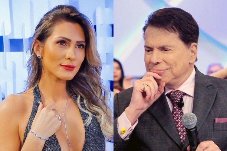 Livia Andrade e Silvio Santos