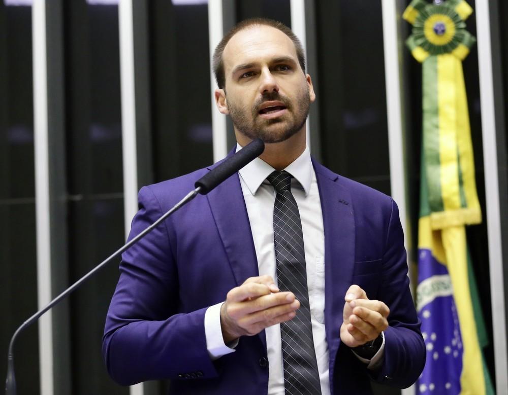 O deputado Eduardo Bolsonaro (PSL-SP), filho do presidente da República