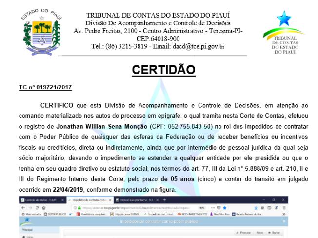 _Certidão de Impedimento de contratação com o poder público