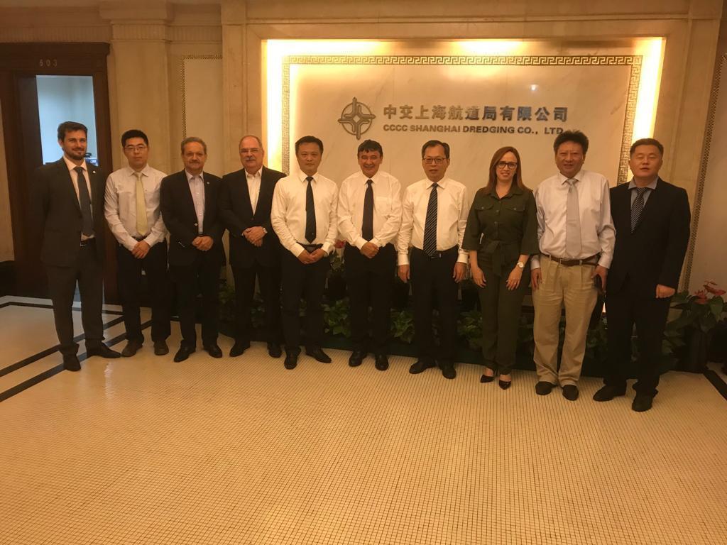 Hoje, W.Dias teve agenda com representantes da empresa China Communications Construction Company (CCCC Shangai)