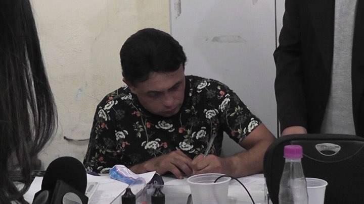 Paulynho Paixão na delegacia