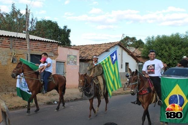 Cavalgada dos Vaqueiros pelas ruas de Redenção do Gurgueia