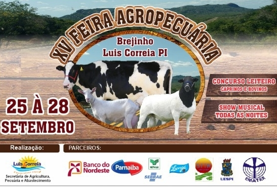 XV Feira Agropecuária do Brejinho será realizada entre os dias 25 à 28 setembro