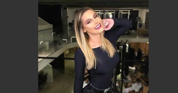 A modelo Aricia Silva, de 26 anos