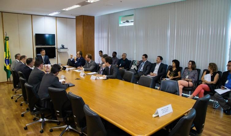 Reunião do COFIEX presidida pelo Secretário de Assuntos Econômicos Internacionais, Sr. Erivaldo Alfredo Gomes