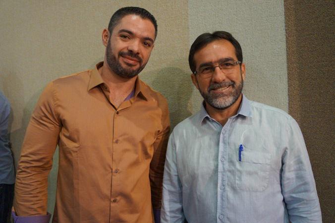 Ex-prefeito Lukano Sá e atual prefeito José Raimundo de Sá Lopes
