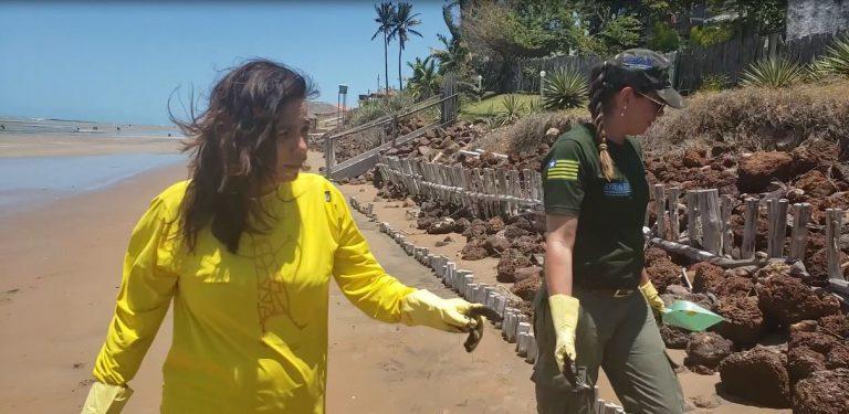 Secretária Sádia Castro monitora praias do Piauí ao lado de fiscal da Semar