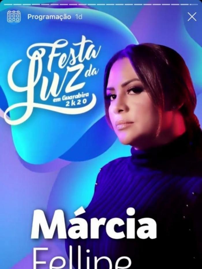 Público pede cancelamento de show de Márcia Felipe na edição 2020 da Festa da Luz