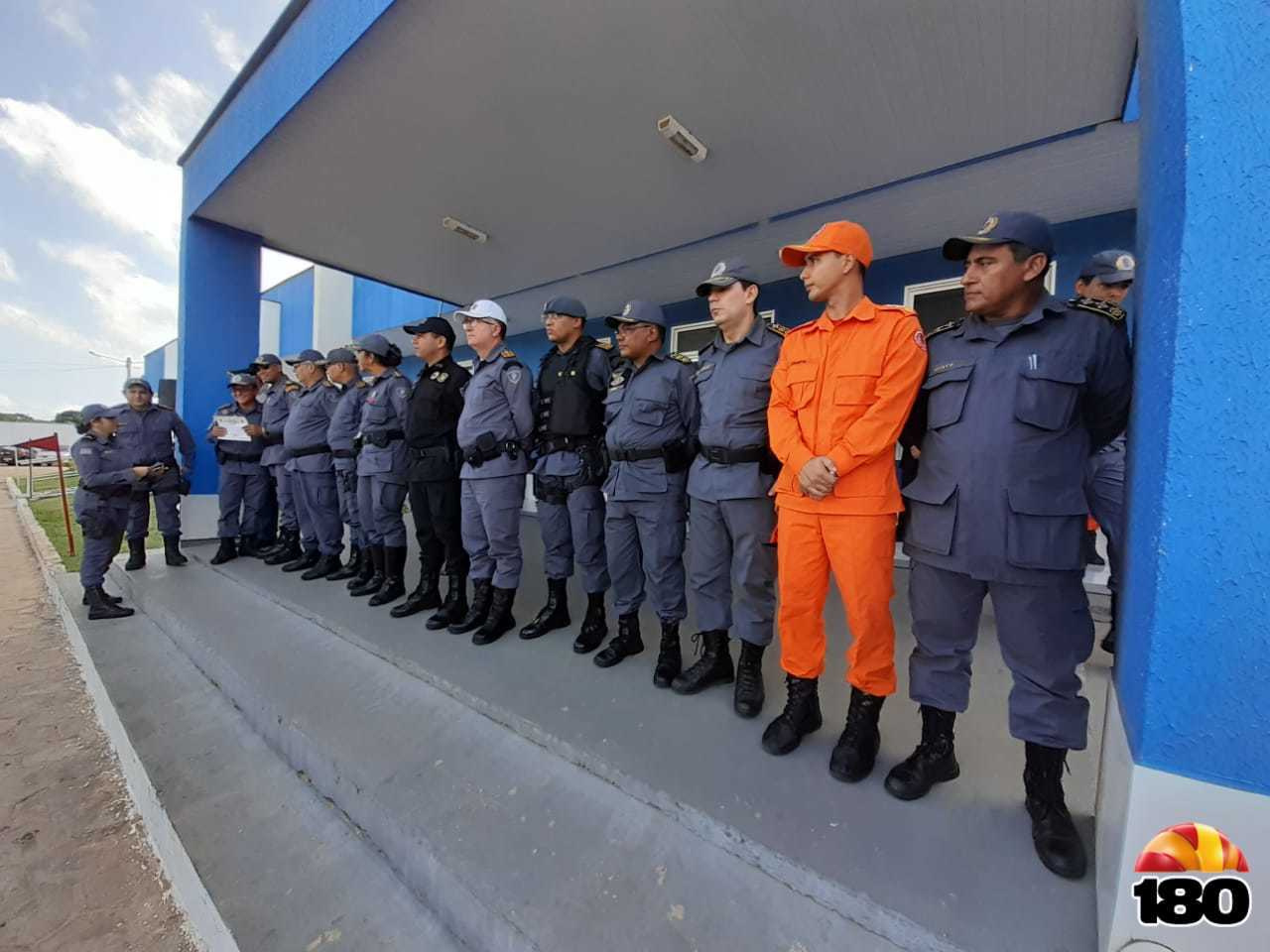 Oficiais e comandantes de diversos Batalhões, como do BOPE