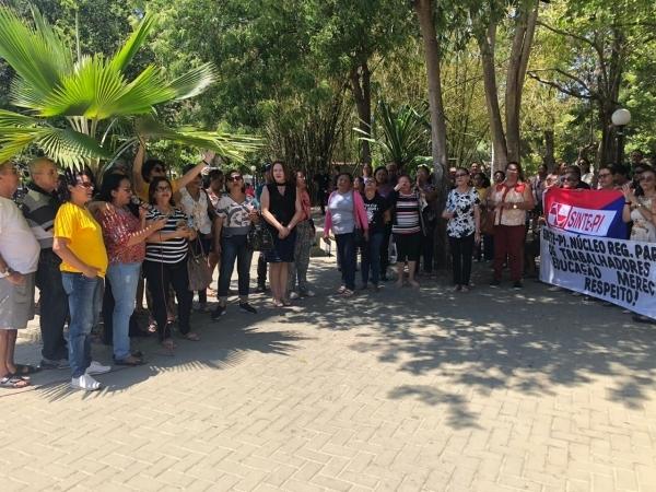 Protesto do Sinte ocorreu na última segunda-feira (21)