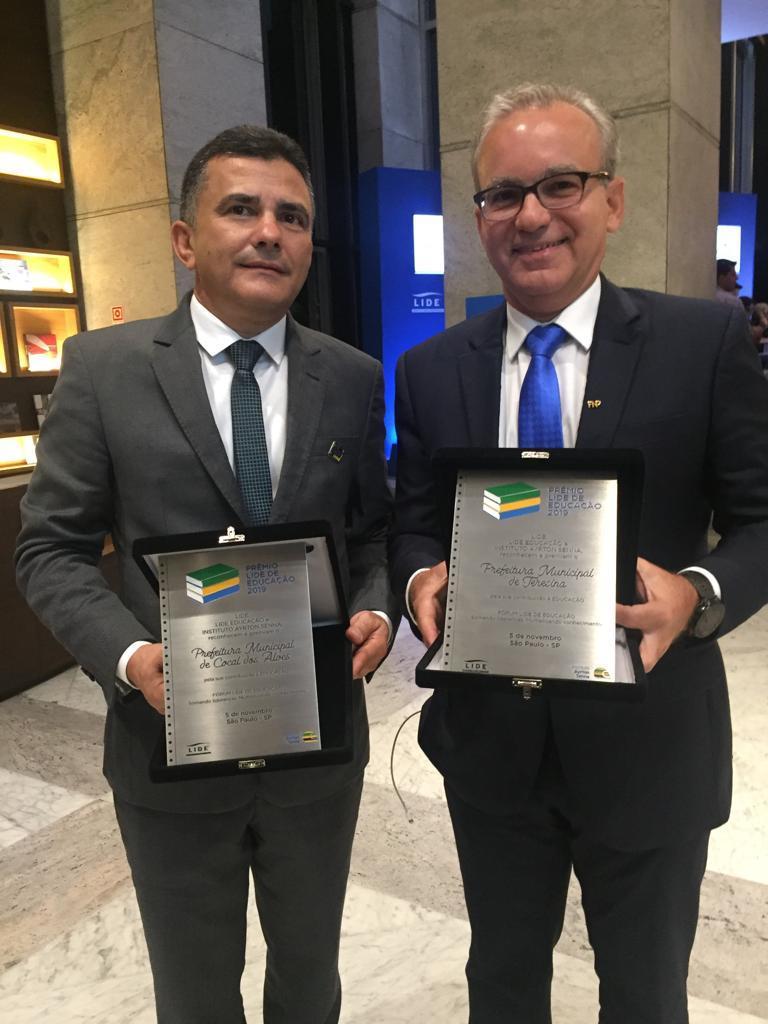 Osmar Vieira, Prefeito de Cocal dos Alves e o Prefeito de Teresina Firmino Filho